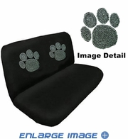 Rear Bench Seat Cover - Crystal Studded Rhinestone Bling - Paw