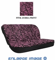 Rear Car Truck SUV Bench Seat Cover - Animal Print - Pink Zebra with Black Stripes