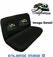 Rear Car Truck SUV Bench Seat Cover - Rhinestudded - California Bear - Camo