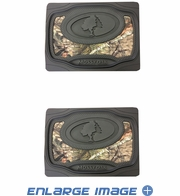 Rear Seat Utility Heavy Duty Trim-to-Fit Floor Mats - Camouflage - Mossy Oak Infinity Logo - PAIR