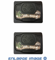 Rear Seat Utility Heavy Duty Trim-to-Fit Floor Mats - Camouflage - Realtree Outfitters Logo - PAIR