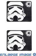 Rear Seat Utility Rubber Car Truck SUV Floor Mats - Star Wars - Storm Trooper - PAIR