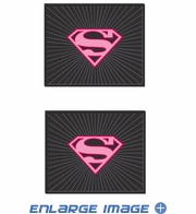 Rear Seat Utility Rubber Floor Mats - DC Comics - Supergirl - Shield - PAIR