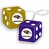 Rearview Mirror - Fuzzy Dice - Baltimore Ravens