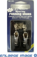 Rearview Mirror Ornament - Running Shoes - Sterling Silver