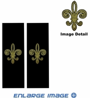 Seat Belt Shoulder Pad - Bling Crystals Studded Rhinestone - Fleur de Lis Gold French Cross - pair