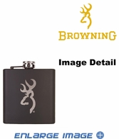 Small Flask - Stainless Steel - Browning - Black - 6 oz