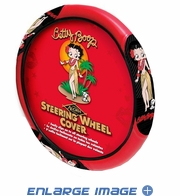 Steering Wheel Cover - Car Truck SUV - Betty Boop - Aloha Hawaiian with Dog