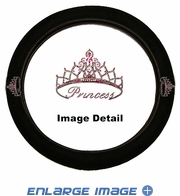 Steering Wheel Cover - Car Truck SUV - Crystal Studded Rhinestone Bling - Pink Princess w/ Cute Crown