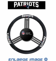 Steering Wheel Cover - Car Truck SUV - Leather - New England Patriots