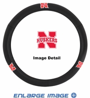 Steering Wheel Cover - Car Truck SUV - Leather - UN University of Nebraska Cornhuskers