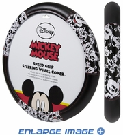 Steering Wheel Cover - Car Truck SUV - Speed Grip - Disney - Mickey Mouse - Expressions