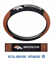 Steering Wheel Cover - Embroidered Football Skin - Car Truck SUV - NFL - Denver Broncos