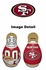 Tackle Buddy Inflatable Punching Bop Bag - Mini Size - San Francisco 49ers