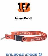 Team Logo Lanyard Keyring with Velcro closure - Cincinnati Bengals - Orange