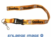 Team Logo Lanyard Keyring with Velcro closure - Pittsburgh Steelers - Yellow