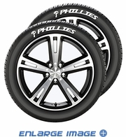 Tire Tatz - Decal - Car Truck SUV - MLB - Philadelphia Phillies