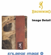 Wallet - Leather Trim - Tri-fold - Browning