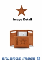 Wallet - Tri-Fold - Embroidered Leather - Dallas Cowboys