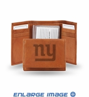 Wallet - Tri-Fold - Embroidered Leather - New York Giants