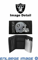 Wallet - Tri-Fold - Nylon - Oakland Raiders