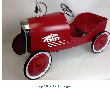 34 Classic Fire Chief Pedal Car