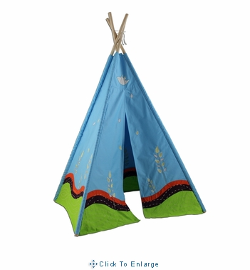 6' Eco Kids Four Panel Teepee Playhouse in Blue