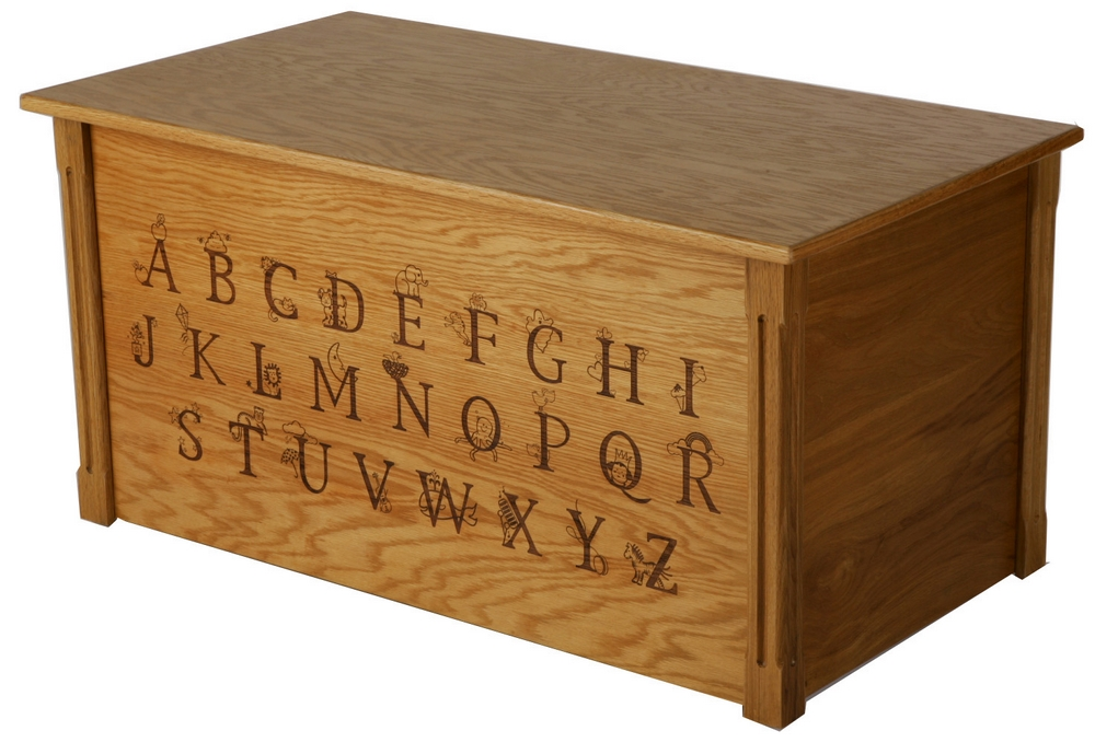 Handcrafted ABC Full Thematic Alphabet Wooden Toy Box/Toy ...