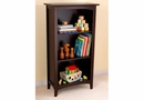 Avalon 3 Shelf Childs Tall Bookcase , Cherry/White