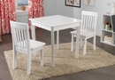 Avalon Square Table & 2 Chair Set, White or Espresso