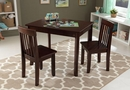 Avalon Table II & 2 Chair Set, Espresso, Natural or Honey