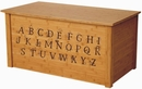 Bamboo Toybox with Full Alphabet