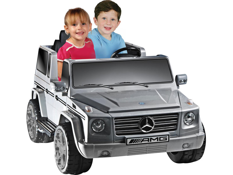 Battery powered kids car npl mercedes benz g55 12v truck for Mercedes benz kids car