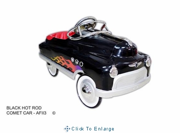Black Hot Rod Comet Pedal Car