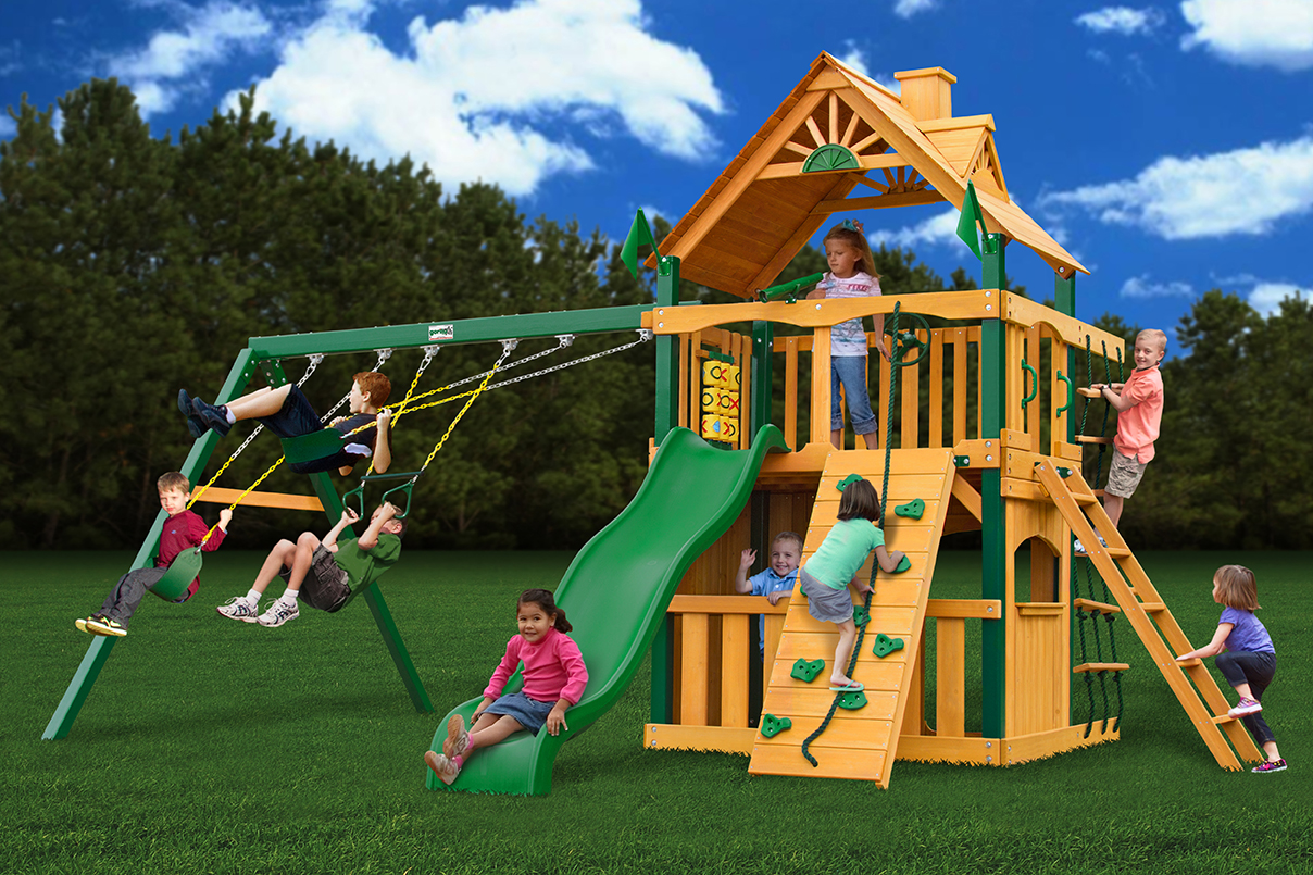 Chateau Ii Clubhouse Wooden Playset By Gorilla Playset Free Shipping