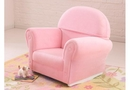 Childs Upholstered Rocker-pink velour rocker with slip cover