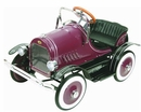 Deluxe Burgundy Roadster Kids Pedal Car