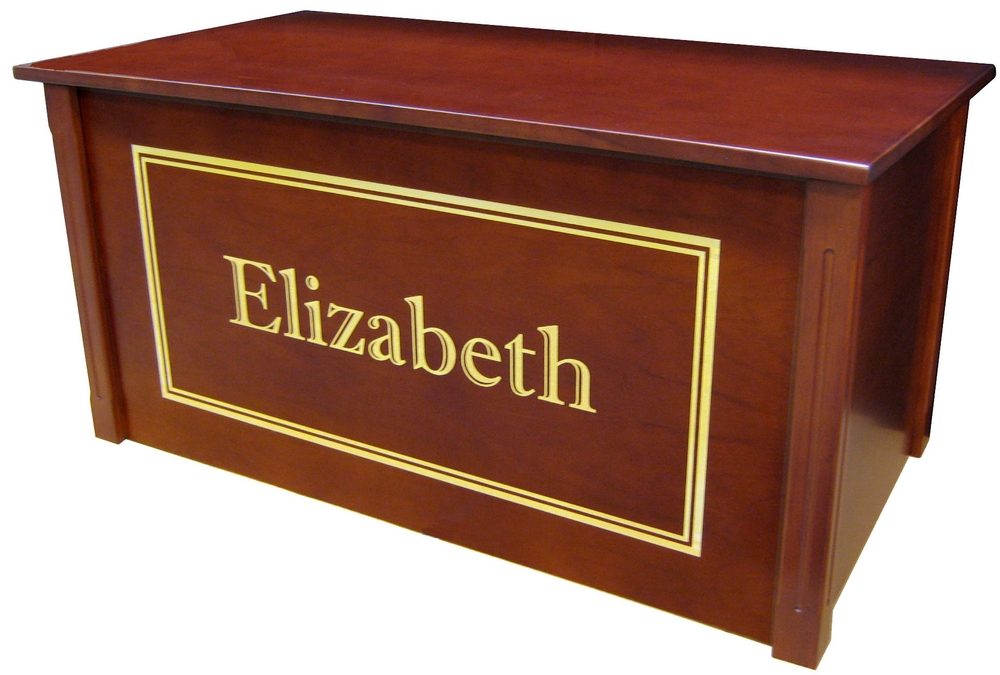 Dream Toy Box Personalized Cherry Wooden Chest Made In Usa