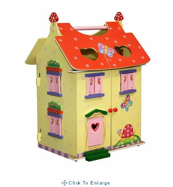Fantasy Fields - Magic Garden Hand Carry Doll House w/Furniture