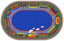 The Good Friend Train Kids Area Rug