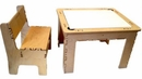 Flip Top Dry Erase And Chalk Table With 1 Bench