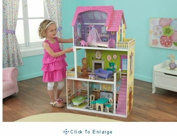 Florence dollhouse w/ 10 pc doll furniture