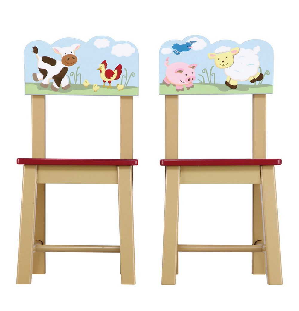 f79aca05d207 Guidecraft Farm Friends Kids Chairs Set of 2 - Free Shipping