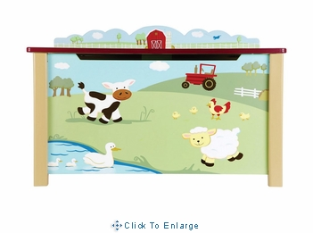 Guidecraft Farm Friends Wooden Toy Box