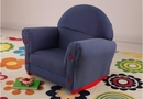 Kid's Upholstered Rocker -denim rocker with slip cover