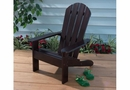 Kids Outdoor Adirondack Chair in Espresso/White/Honey-Personalization Optional