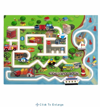 Kids City Transportation Wall Panel-Made in USA