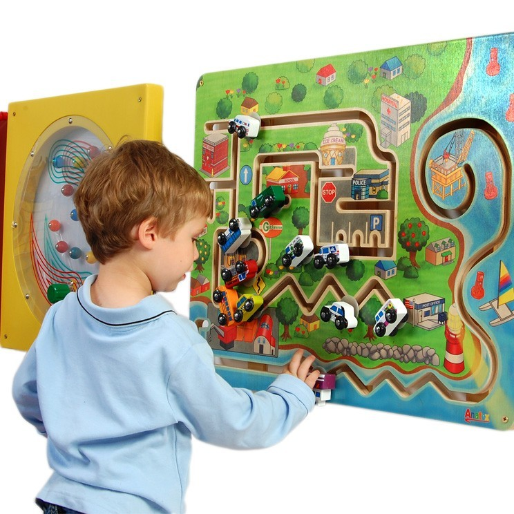 Kids City Transportation Wall Panel - Free Shipping-Made in America