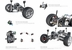 Henes Broon T870 4x4 Ride-On Car 24v with Tablet (RC) Black/White/Orange