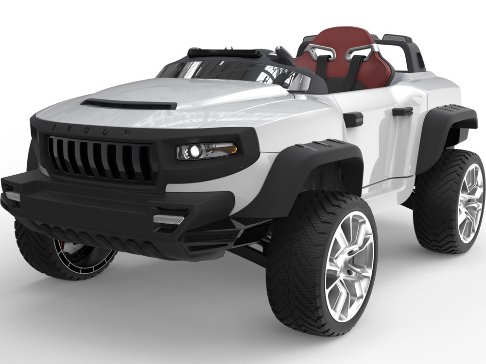 henes broon t870 4x4 ride on car 24v with tablet rc black